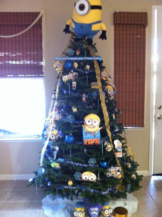 minion themed xmas tree of my sister christmas
