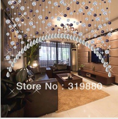 On sale!!! Wholesale K9 glass crystal curtain beaded door curtain ...