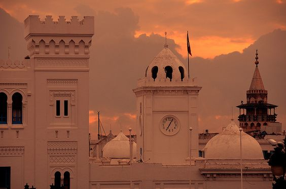 The Place du Gouvernement and Tunis Medina at sunrise, Tunisia by iancowe, via Flickr