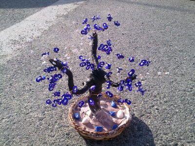 MANUALIDADES CON ABALORIOS..arboles ,flores y mas.... - ARBOLES BONSAI ARTIFICIALES