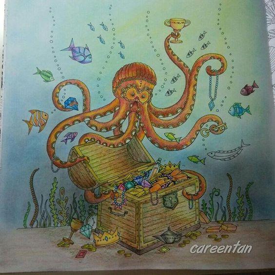 My Octopus! #johannabasfordlostocean #johannabasford #lostocean #beautifulcoloring #colleencolourpencils
