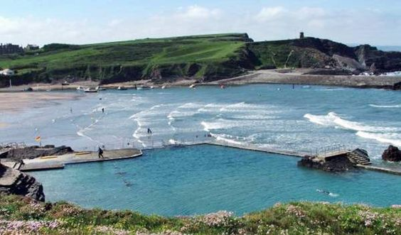 The Sea Pool is a feature of Summerleaze Beach at Bude, Cornwall, England - this is where John's maternal grandmother was from.