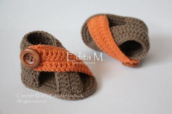 Crochet baby sandals baby gladiator sandals unisex baby