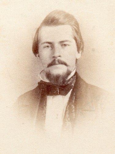 Jeremiah Gurney CDV in Vignette CA 1860s CDV of 1850s Daguerreotype