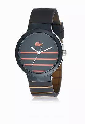 Shop Lacoste black Goa Watch for Men in Saudi