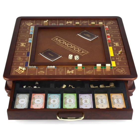 The Drawing Room Monopoly Game - Hammacher Schlemmer - Wow...now that's a Monopoly game!