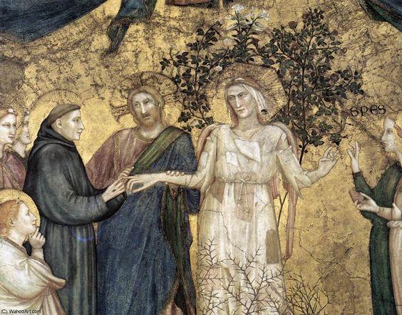 'Allegorie der Armut (Detail)' von Giotto Di Bondone (1266-1337, Italy)
