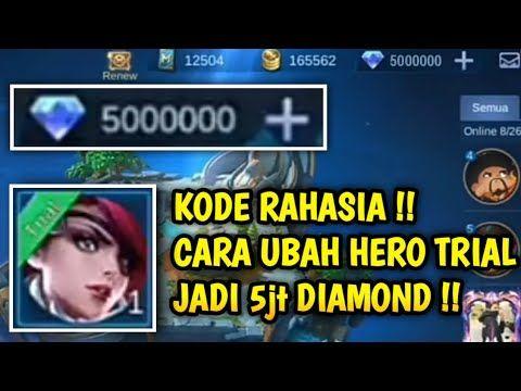 Kode Rahasia Cara Ubah Hero Trial Jadi Diamond Mobile Legend Bug Youtube In 2021 Bruno Mobile Legends Alucard Mobile Legends Miya Mobile Legends