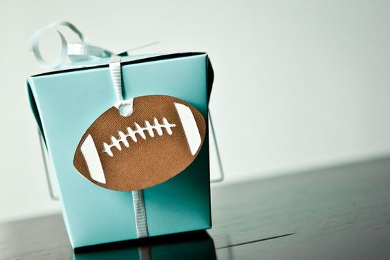 Football birthday party favor gift tags