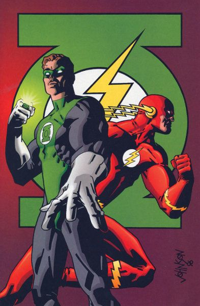 Green Lantern and The Flash by Dave Johnson