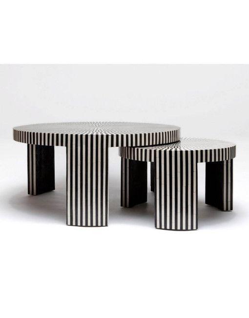 Bone Inlay Nesting Coffee Tables Vae 1550 Coffee Table