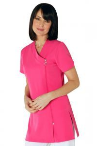 Beauty salons hot pink and belle on pinterest for Spa uniform patterns