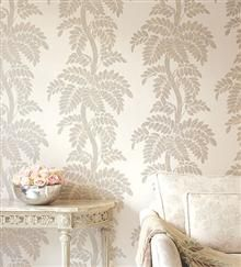 Anna French Glamour Wallpaper Wisteria-Silver/Gold on Off White