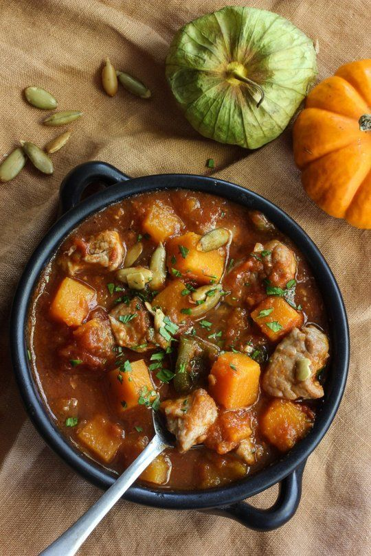 Pork, Poblano, and Pumpkin Stew | Recipe | Pumpkin Stew, Stew and Pork