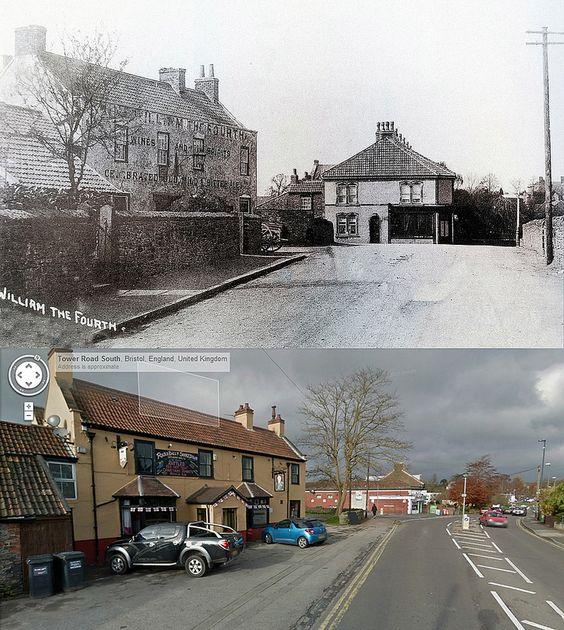 Bristol Then & Now - Tower Road, Cadbury-Heath, South Gloucestershire