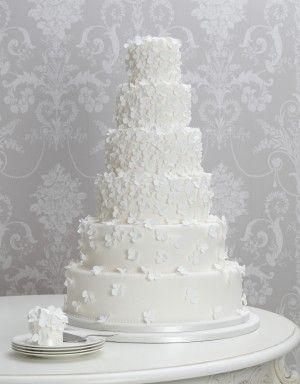 Hydrangea Cascade bolo de casamento
