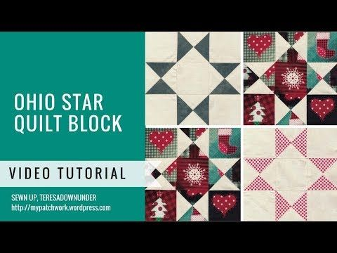 Quick And Easy Bow Tie Quilt Block Video Tutorial Youtube Quilt Tutorial Video Star Quilt Blocks Quilt Blocks