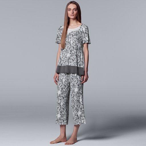 Women/'s Simply Vera Wang Pajama Set Medium