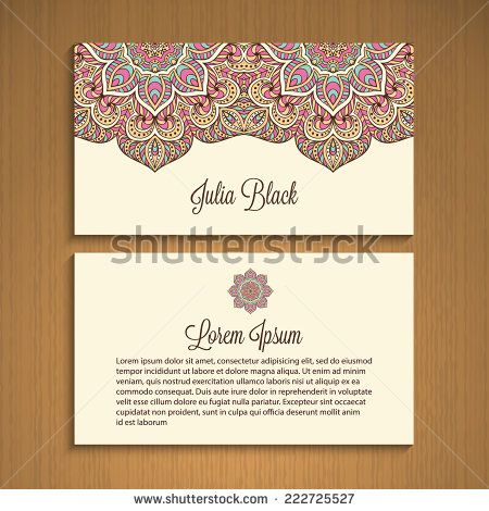 Image gallery henna business cards for Henna business cards
