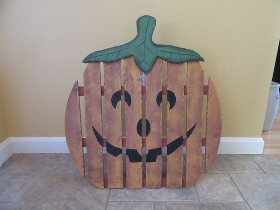 The great pumpkin.. Large handmade vintage wood pumpkin on a stand- great rustic home decor by HeathersCollectibles on Etsy