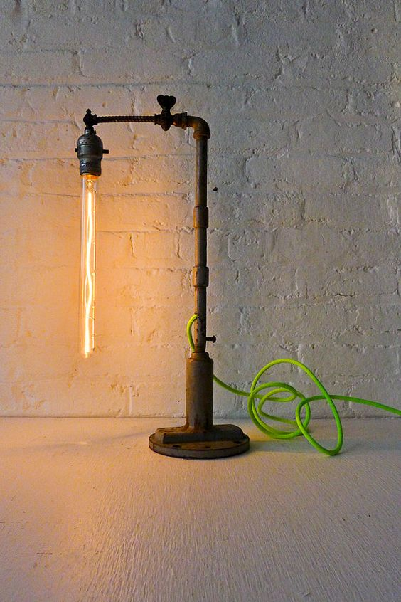 Pope Pipe Industrial Lamp with Tungsten Tubular by EarthSeaWarrior, $2480.00