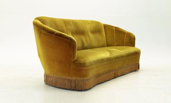 Divano curvo in velluto anni '50 nello stile di Gio Ponti, Ico Parisi, canapè, velvet sofa