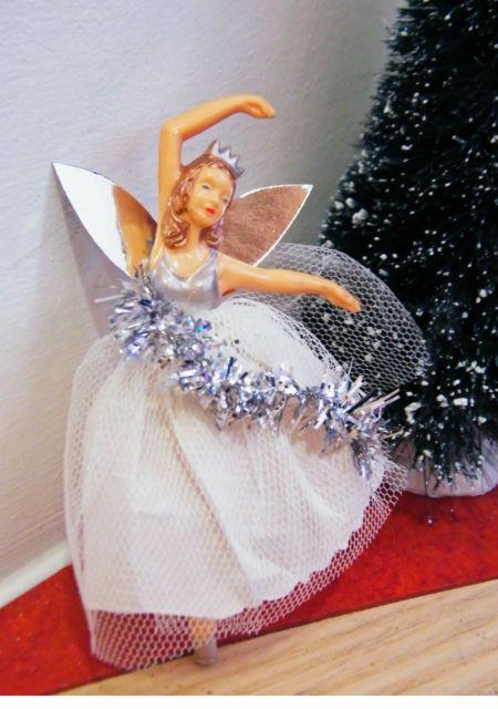 Vintage 1950s dibro fairy ballerina doll retro christmas for Ballerina christmas tree decoration