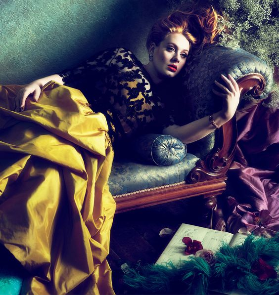 Adele by Mert Alas & Marcus Piggott for Vogue March 2012