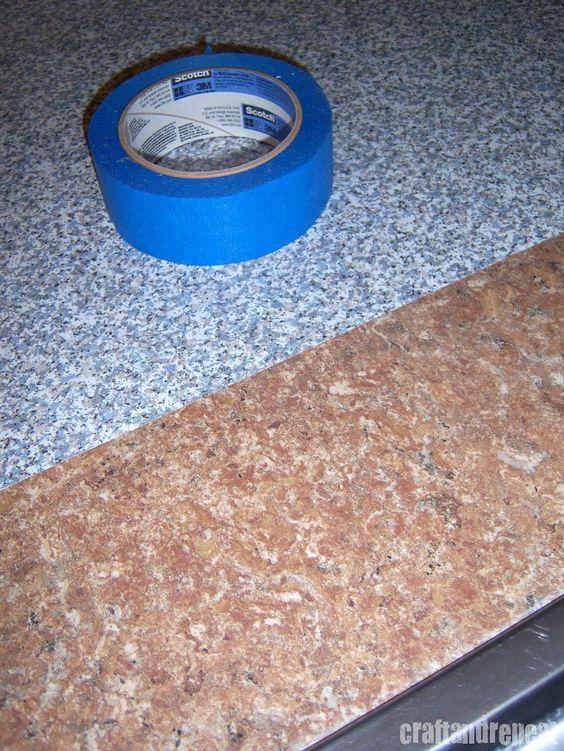 Six Dollar Kitchen Countertop Transformation Countertop