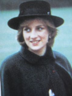 November 12, 1981: Princess Diana in Chesterfield, England.