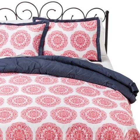Pink Medallion Comforter Set (Full/Queen) - Xhilaration™ Dorm