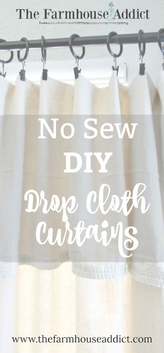 No Sew DIY Drop Cloth Curtains | Easy DIY | Home Decor | Farmhouse Style | Fixer Upper
