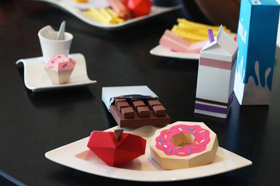 papercraft comida - Buscar con Google