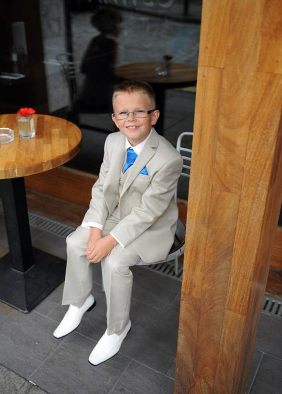Craig Anderson- A picture of my nephew at our Civil Partnership a few months ago.