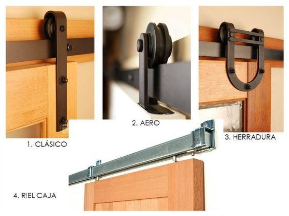 Puertas correderas tipo granero para interiores herrajes for Puertas de metal para interiores