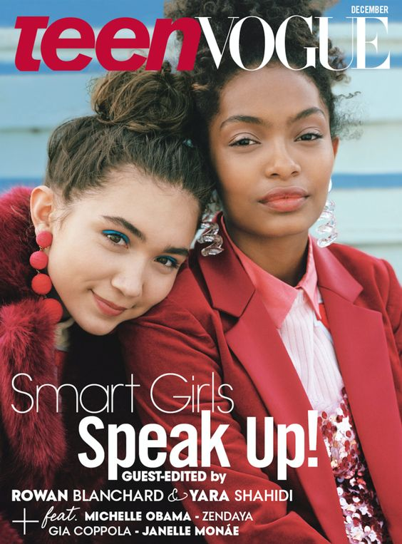 Yara Shahidi and Rowan Blanchard on the Cover of Teen Vogue / Explore more: http://www.teenvogue.com/story/rowan-blanchard-yara-shahidi-cover-interview-december-issue-representation-activism