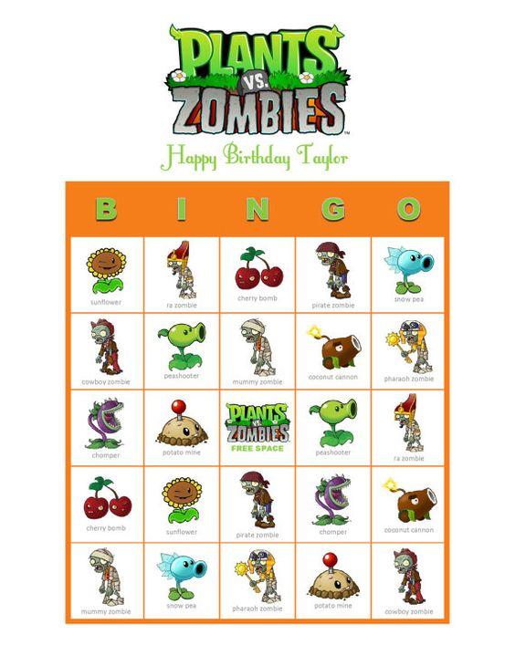 Galerry plant bingo printable