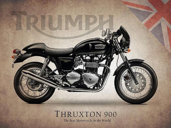 Triumph Thruxton 900 Print By Mark Rogan