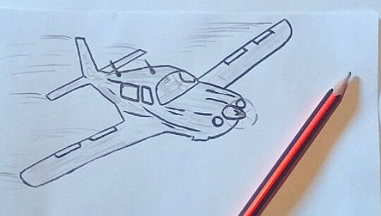 How To Draw A Plane Step By Step Drawings Pencil Drawings Draw