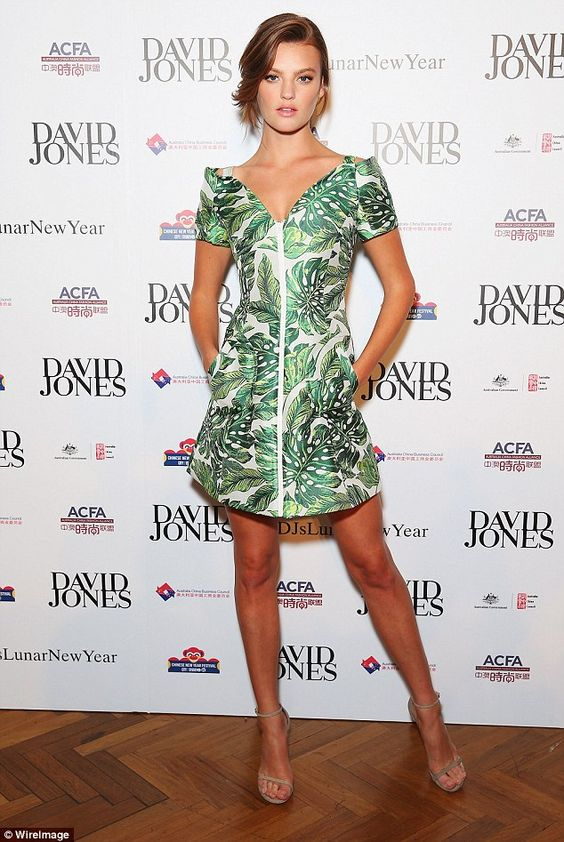 Hot to trot:Earlier this month the former Australia's Next Top Model winner put her best fashion foot forward while attending retail giant David Jones' Lunar New Year Designer Collection Launch Party