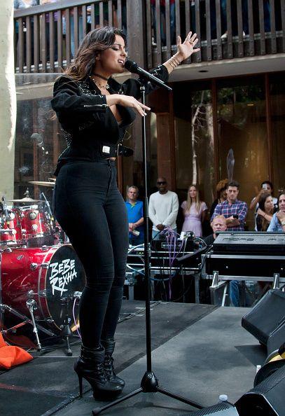 Bebe Rexha performs at Warner Bros Studios on August 21 2015 in Burbank California