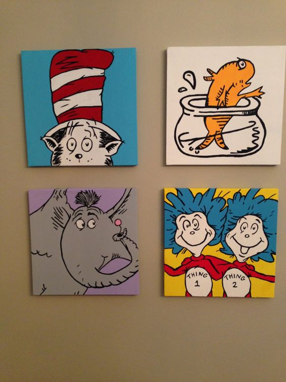 dr seuss canvas paintings by carolinescanvas on etsy 35. Black Bedroom Furniture Sets. Home Design Ideas
