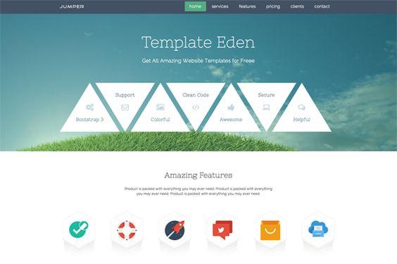 Jumper - Single Page Template by WordPress Eden on Creative Market