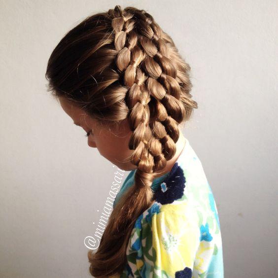 Double 4 strand braid by @mimiamassari