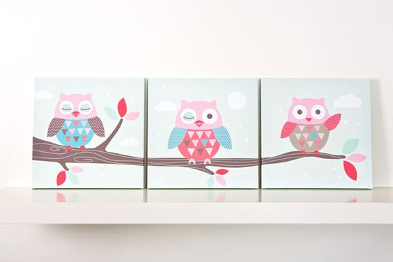 love the owls....need to accent with them in kids rooms....too cute!