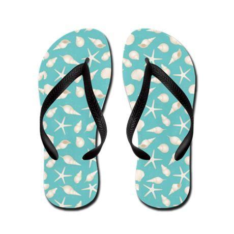 Beach Sea Shell Flip Flops