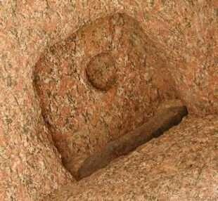 Granite door post socket in the Sphinx Temple 4th Dynasty. & Fig. 10. Granite door post socket in the Sphinx Temple 4th Dynasty ...