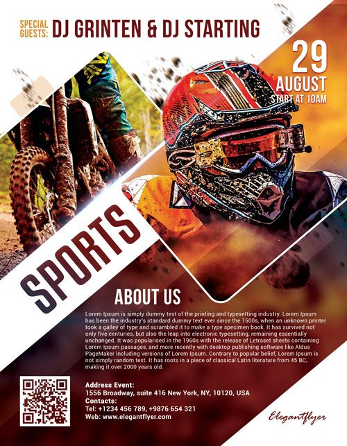 Motor Sports Free Psd Flyer Template With Images Psd Flyer