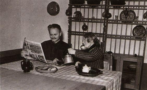 Casa de Leon Trostky y su esposa Natalia en Mexico