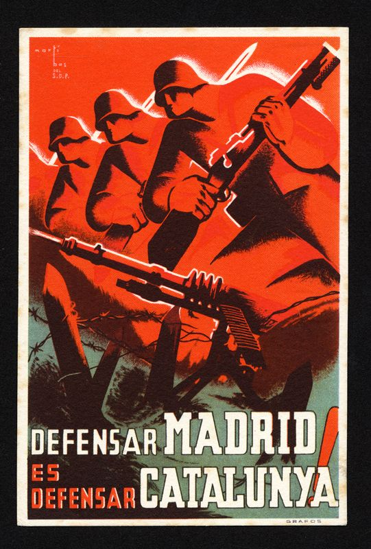 Defensar Madrid Es Defensar Catalunya To Defend Madrid Is To Defend Catalonia Civil War American War Poster